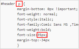 замена тега h1 на p в таблице стилей блога