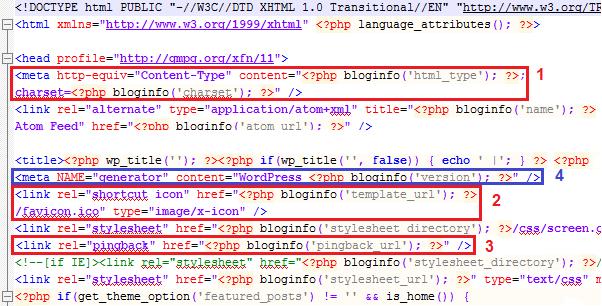 код в header.php