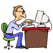 блогер в работе