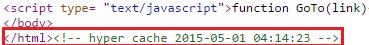 hyper cache в исходном коде страницы