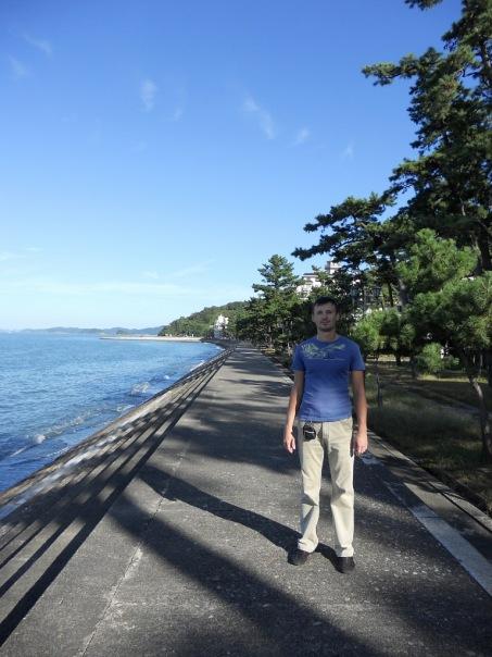 я в японии на океане